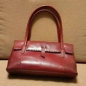 BCBGMAXAZRIA red leather